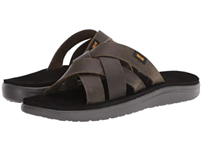 Teva Voya Slide Leather (Dark Olive) Men