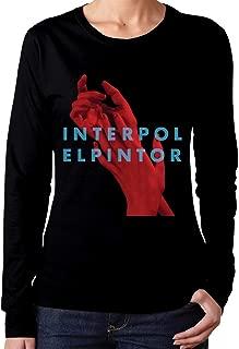 Women's Interpol El Pintor Long Sleeve T-Shirts Black