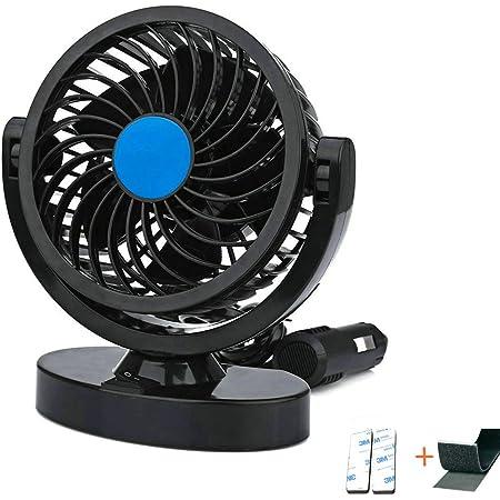 Auto Kfz Lüfter Mini Auto Ventilator Gebläse Klimaanlage 360 Grad Drehung Einstellbares Kein Lärm Mit Schalter 3m Aufkleber Armaturenbrett Kühlung Fan 4w 12v Auto