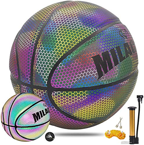 YZPXDD Holographic Reflective Glowing Basketball Indoor-Outdoor Street...