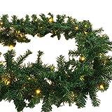 XL 70 LED Weihnachtsbeleuchtung Girlande Tannengirlande inkl. Lichterkette 540 cm Weihnachten innen/außen