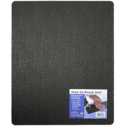 """Cottage Mills Stay-in-Place 15"""" x 18"""" Machine Mat - Reduces: Noise, Vibration and Machine Movement. Great for Sewing Machines and sergers. Made in USA!"""