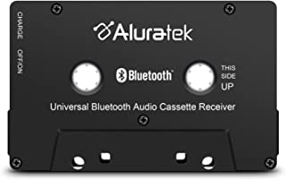 $29 » Aluratek Universal Bluetooth Audio Cassette Receiver with Built-in Battery for Car, Boombox, Stereo, RV (ABCT01F), Black