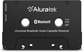 Aluratek Universal Bluetooth Audio Cassette Receiver with Built-in Battery for Car,..