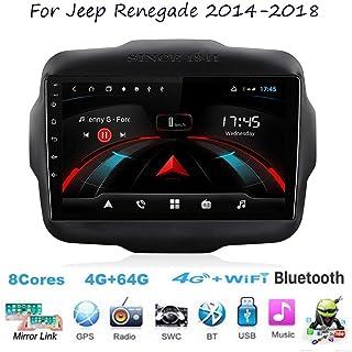 Für Jeep Renegade 2014 2018 Navi Doppel Din Auto Stereo Radio GPS Navigation 9 Zoll Touchscreen Head Unit Multimedia Player Videoempfänger WiFi BT SWC