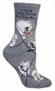 Viejo perro pastor Inglés diseño de perro Calcetines en color gris