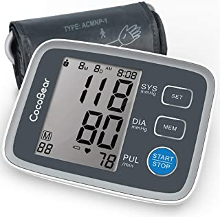 Blood Pressure Monitor CocoBear Upper Arm Digital Automatic BP Monitor for Home Use, 2 *
