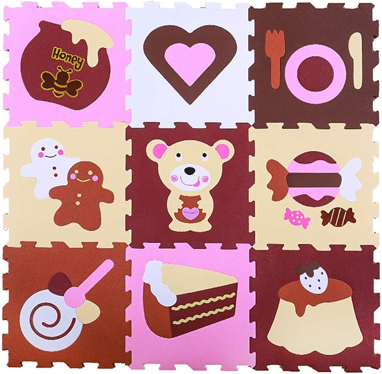 JIA LIANG Kids Foam Play Matte-Nontoxische Puzzle-Spielmatten für Kinderspielzimmer oder Baby-Krankenelbrei und Bunte 90  90  1.2cm,J