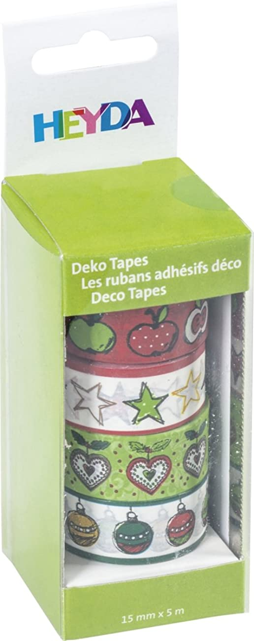 Baier & Schneider Adhesive Decorative Tapes 'Apples Paper Can be Labelled Tape Size (L x W): 5?m x 15