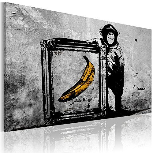 murando Cuadro en Lienzo 90x60 cm 1 Parte Impresión en Material Tejido no Tejido Impresión Artística Imagen Gráfica Decoracion de Pared Banksy 030115-52