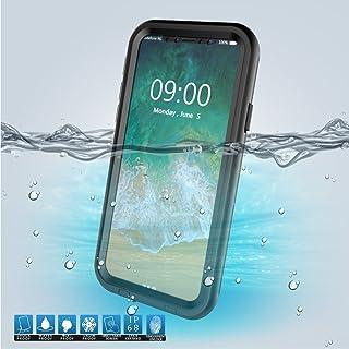 iPazzPort iPhone X Waterproof Case, Underwater Full Sealed Cover Snowproof Shockproof Dirt proof Waterproof Case with Buil...