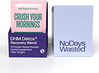 DHM Detox® - No Days Wasted® - New Look - Dihydromyricetin (DHM Supplement), Milk Thistle, Prickly Pear, B Vitamins, Hydra...