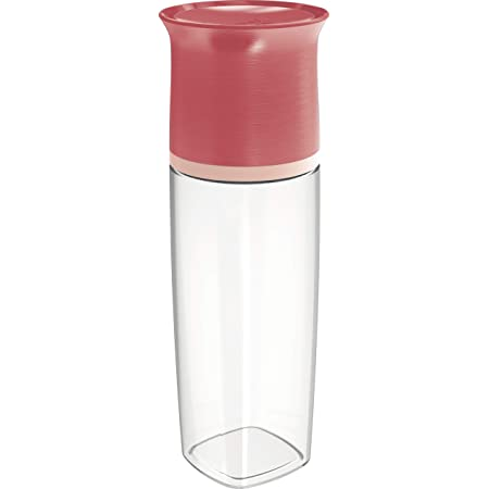 Maped PICNIK Adulte Bouteille d'Eau 500 ml Anti-Gouttes et Verre Capuchon - Compatible Lave-Vaisselle - Plastique Tritan Sans BPA - Rouge