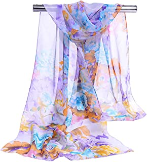 DreamBeauty Floral Scarves for Women Super Lightweight Fashion Scarves for Women