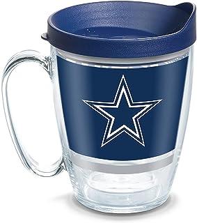 Tervis NFL Dallas Cowboys Legend Coffee Mug With Lid, 16 oz, Clear