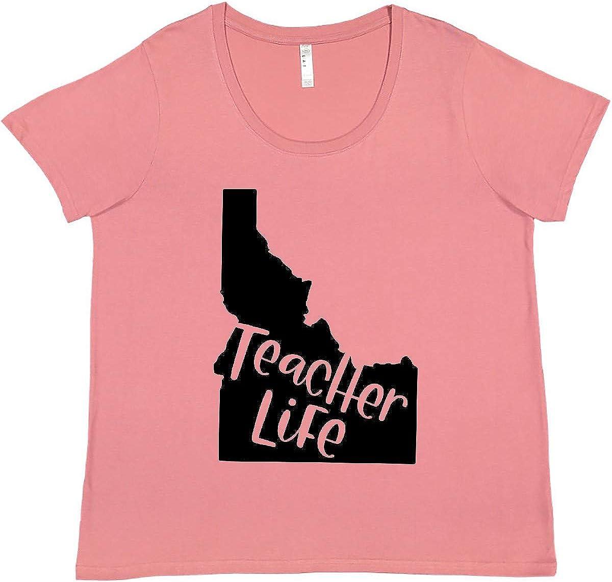 inktastic Idaho Fees free!! Teacher Life 5 ☆ popular Plus T-Shirt Size Women's