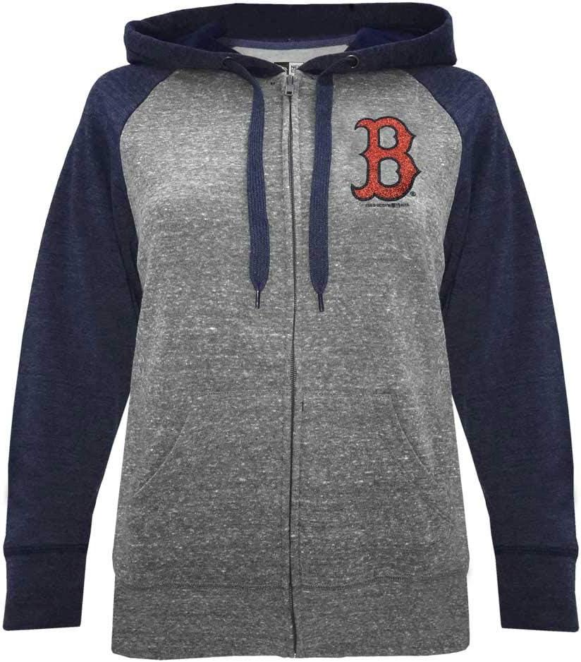 New Era Boston Red Sox Women's MLB Double Tri-Blend Hooded Sweatshirt
