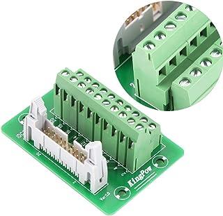 PLC Breakout Board IDC20P 20Pin Male Header Breakout Board Terminal Block Connector PLC Interface with Bracket