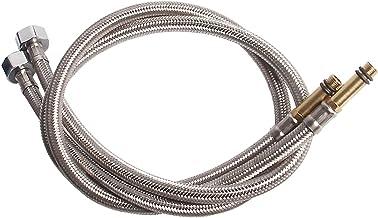 JIAN 304 roestvrijstalen kraan water geweven sanitair slang, EPDM Verwarmer Flexibele verbindingsleidingen 1/2'-standaardi...
