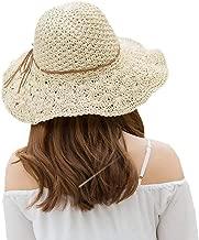 XUERUI Sombrero Para El Sol Estuche Blando Sombrero De Copa Sombrero Para El Sol Plegable Sombrero De Ala Ancha Sombrero De Playa Sombrero Panama Verano Anti-ultravioleta Elegante Ajustable Nudo De Ma