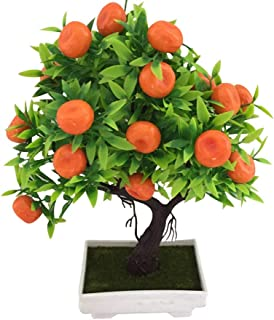 Tcplyn 1Pc Artificial Orange Tree Bonsai Potted Plant Landscape Party Home Garden Decor Durable and Useful
