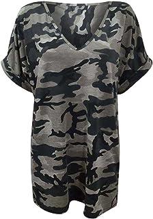 9159dc10cf4b4 Fashion 4 Less - T-shirt - Tunique - Col Chemise Classique - Femme  Multicolore