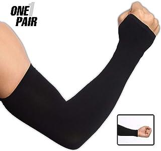 Protección UV brazo mangas de enfriamiento–UPF 50Sun mangas con funda de mano para hombres y mujeres. Perfecto para ciclismo, conducción, baloncesto, fútbol y actividades al aire última intervensión. Rendimiento Stretch y absorbe la humedad