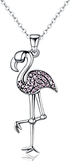 Flamingo 925 Sterling Silver Pendant Necklace 18