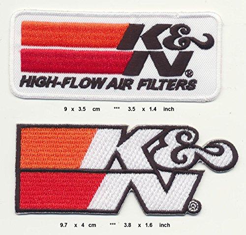 KN Air Filters Aufnäher Aufbügler Patch 2 Stück Racing USA TURBOVERSAND