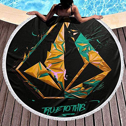 Duanrest Fiel a Volcoms Ramadan Festival Alfombra Redonda, Toalla de Playa Redonda Estera de Yoga Estera de Playa Estera de Mesa Alfombra de casa Mantón Junto al mar
