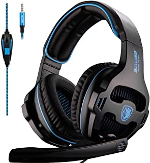 SADES SA810 New Version Xbox One Gaming Headset Headphones with Microphone and PC Adapter for PS4/PlayStation 4 Laptop Bla...
