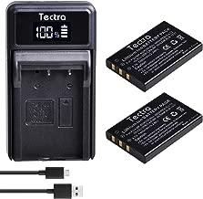 Tectra 2-Pack NP-60 FNP-60 Battery and LED USB Charger for Fujifilm NP-60, Pentax D-L12,Kodak KLIC-5000, Samsung SLB-1137, Olympus Li-20B, Fujifilm Finepix 50i 601 F401 F401 Zoom F410 F410 Zoom Camera