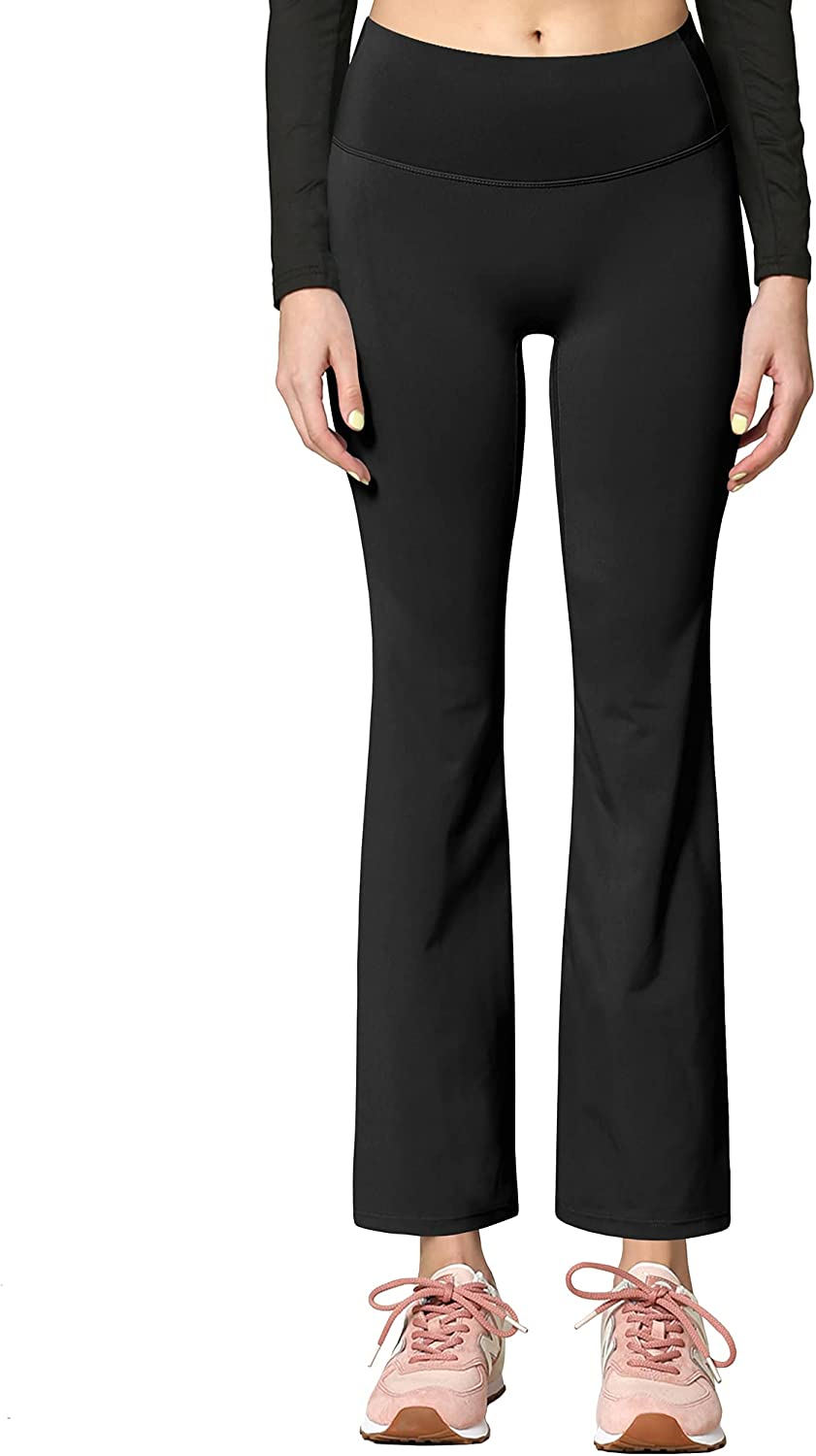 Active Queens Peached Seamless Front & Side Leggings with Inner Pocket Ankle Boot Cut Yoga Pants
