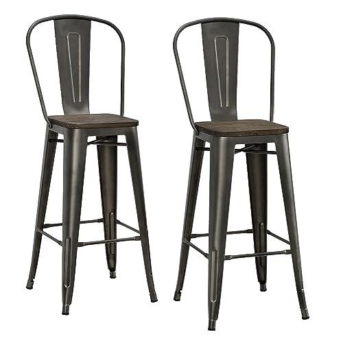 Terrific Farmhouse Bar Stools Amazon Com Ibusinesslaw Wood Chair Design Ideas Ibusinesslaworg