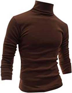 uxcell Men Slim Fit Lightweight Turtleneck Long Sleeve Pullover Top Turtleneck T-Shirt