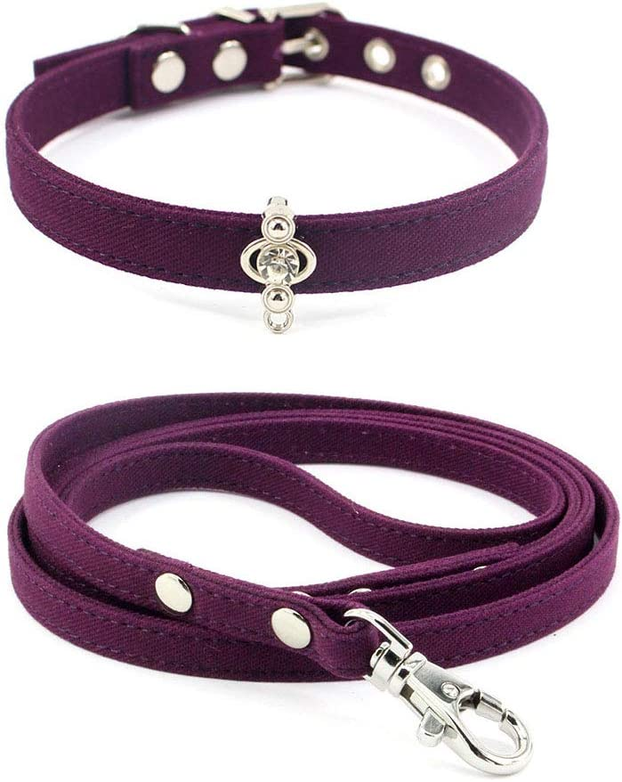 Free shipping Benala Valentines Bling Rhinestone Dog Leash Cat for Set Collar Don't miss the campaign