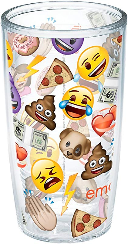 Tervis EMOJI All Over Collage Wrap 16oz Tumbler With No Lid Clear