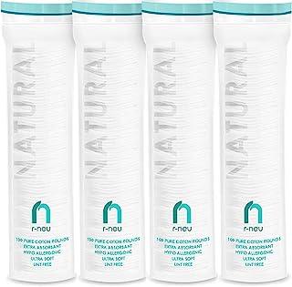 R-NEU پنبه ای گرد ، 400 عدد پاک کننده آرایش و پنبه های گرد پنبه ای ، دستمال مرطوب وفل 100٪ پنبه ضد حساسیت طبیعی ، قطر 2.25 اینچ (بسته 400)