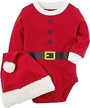 Carter's Unisex Baby 2-Piece Christmas Bodysuit & Hat Set