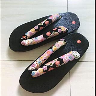 YYTIANYY Flip flop Square Toe Wooden Casual Shoes Chinese Japanese Style Geta Clogs for Men Summer Cosplay Slipper Sandals...