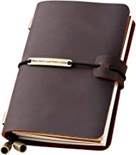 Refillable Handmade Travelers Notebook, Leather Travel Journal Notebook for Men & Women, Perfect for Writing, Gifts, Travelers, Small Size 5.2
