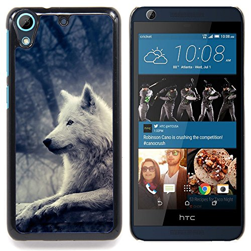 STPlus White Artic Wolf Animal Hard Cover Case for HTC Desire 626 / 626s