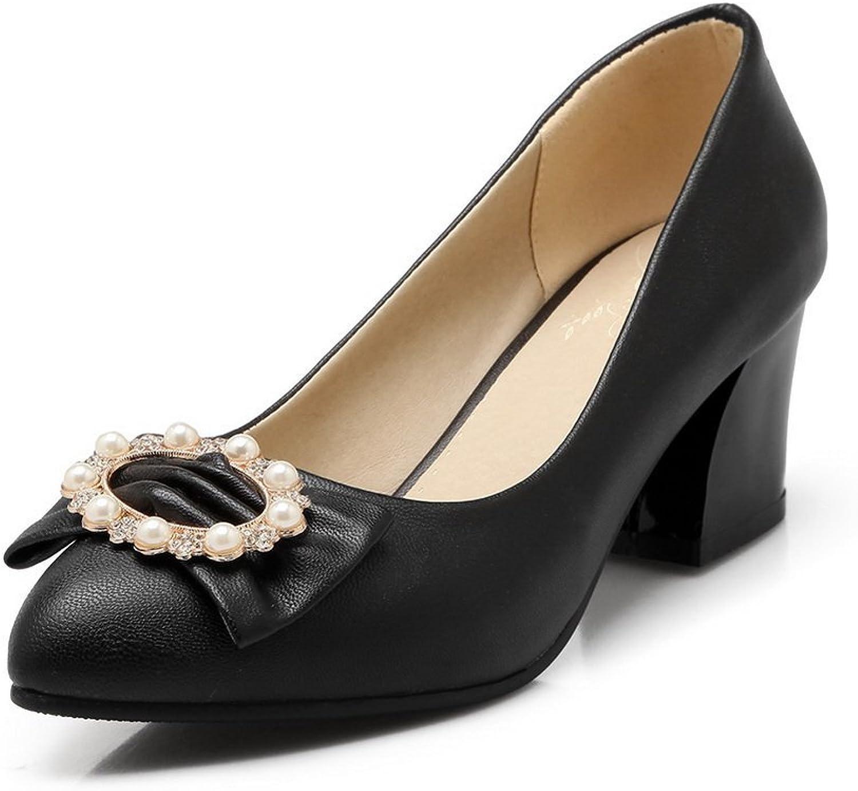 BalaMasa Womens Bead Bead Soft Material Pumps-shoes