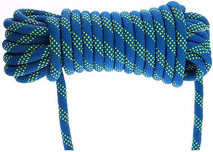HPDOD Corde d'escalade Corde d'escalade Corde D'éChappement Accessoires D'ActivitéS De Plein Air, DiamèTre 8 Mm Charge en Nylon 800 Kg,30m-bleu