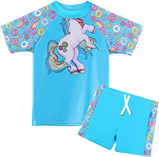 Camisetas Proteccion Solar 4-11 A/ños HUAANIUE Traje de ba/ño Piscina 2 Piezas Protecci/ón UV 50