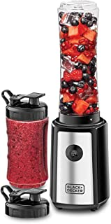 Black+Decker 300W 6 Piece Personal Compact Sports Blender/Smoothie Maker, Silver/Black - SBX300-B5, 2 Years Warranty