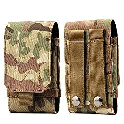 Tactical MOLLE Pouch, Universal Mobile Phone Belt Pouch EDC Pouch Belt Loops Waist Bag for iPhone and Android Upto 6.2 Inch Mobile