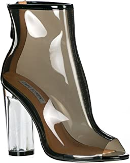 Benny-1 Womens Perspex Peep Toe Ankle Boots