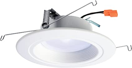 HALO RL 5 in. and 6 in. Matte White Integrated LED Recessed Lighting Retrofit Downlight Trim with 90 CRI, 3000K Soft White - RL560WH6930 (Renewed)