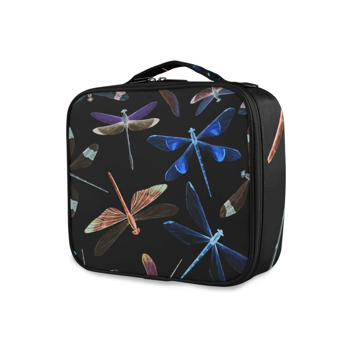 Travel Makeup Case Watercolor Cosmetic New mail order 2021new shipping free Bag Tra Dragonfly